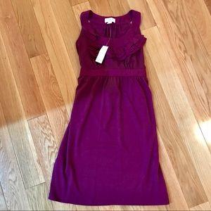 Ann Taylor Loft Petite Purple Ruffle Dress